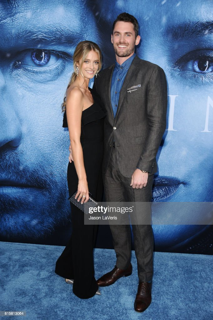 Model Kate Bock and NBA player Kevin Love attend the season 7 premiere of 'Game Of Thrones' at Walt Disney Concert Hall on July 12, 2017 in Los Angeles, California.