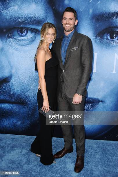 Model Kate Bock and NBA player Kevin Love attend the season 7 premiere of Game Of Thrones at Walt Disney Concert Hall on July 12 2017 in Los Angeles...