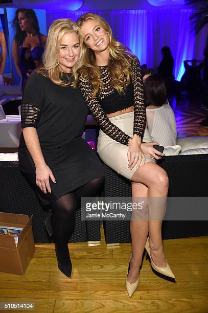 Model Kate Bock and Sports Illustrated editor MJ Day pose together at the Sports Illustrated Swimsuit 2016 Swim City at the Altman Building on...