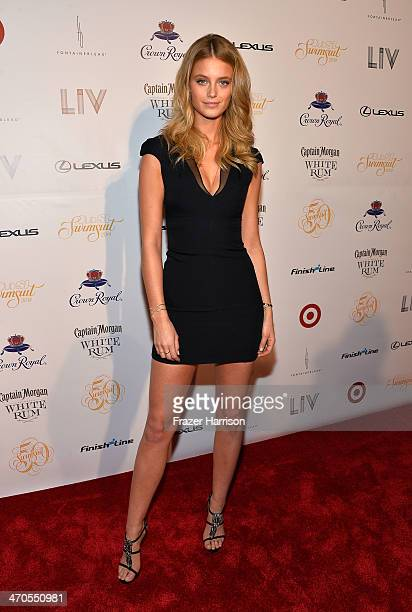 Model Kate Bock attends Club SI Swimsuit at LIV Nightclub hosted by Sports Illustrated at Fontainebleau Miami on February 19 2014 in Miami Beach...