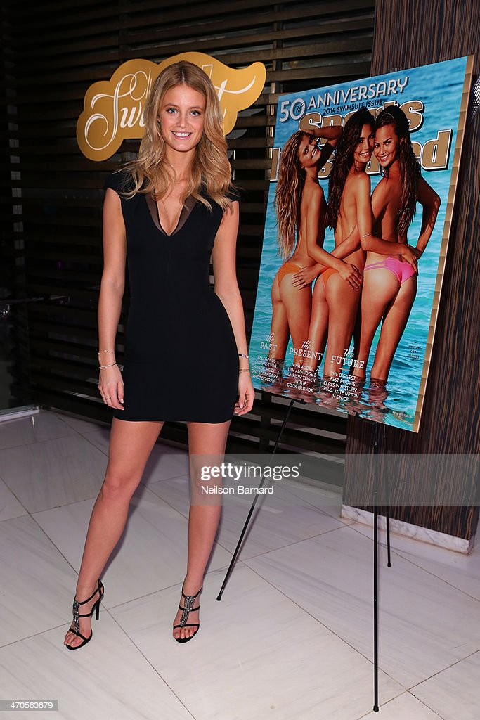 Model Kate Bock attends Club SI Swimsuit hosted by Sports Illustrated at LIV Nightclub at Fontainebleau Miami Beach on February 19, 2014 in Miami Beach, Florida.