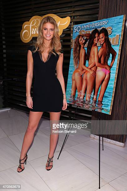 Model Kate Bock attends Club SI Swimsuit hosted by Sports Illustrated at LIV Nightclub at Fontainebleau Miami Beach on February 19 2014 in Miami...