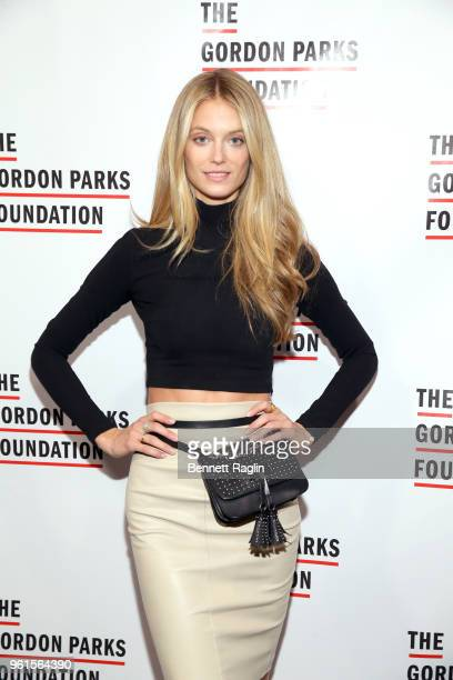 Model Kate Bock attends Gordon Parks Foundation 2018 Awards Dinner Auction at Cipriani 42nd Street on May 22 2018 in New York City