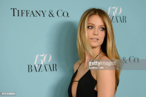 Model Kate Bock attends Harper's BAZAAR 150th Anniversary Event presented with Tiffany Co at The Rainbow Room on April 19 2017 in New York City