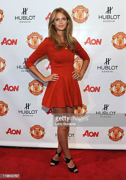 Model Kate Bock attends Hublot Art of Fusion fashion show with Sir Alex Ferguson Manchester United at Cipriani Wall Street on July 25 2011 in New...