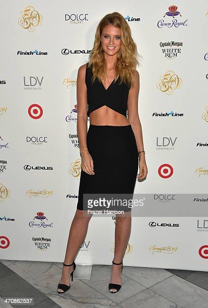Model Kate Bock attends Sports Illustrated Swimsuit South Beach Soiree at The Gale Hotel on February 20 2014 in Miami Florida
