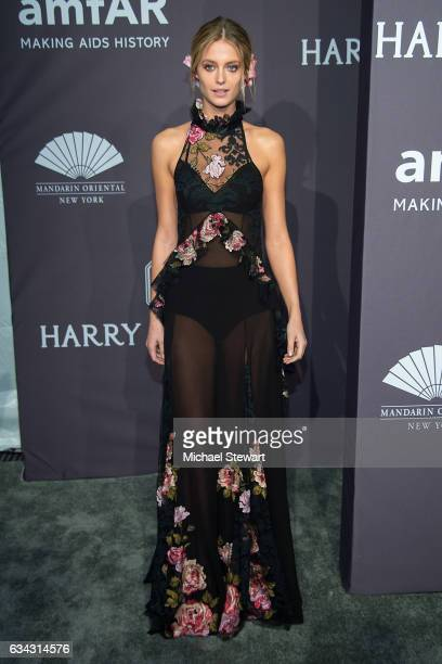 Model Kate Bock attends the 19th Annual amfAR New York Gala at Cipriani Wall Street on February 8 2017 in New York City