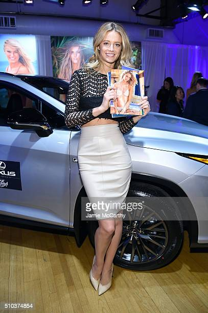 Model Kate Bock poses at the Sports Illustrated Swimsuit 2016 Swim City at the Altman Building on February 15 2016 in New York City