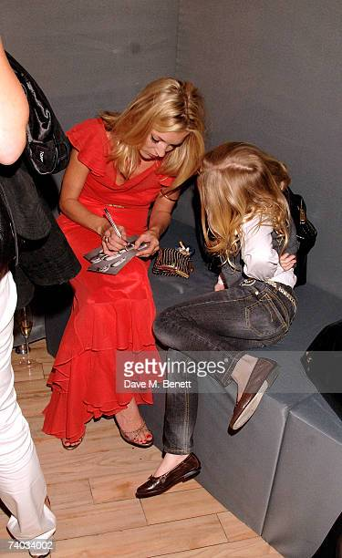 Model Kate Moss and Anais Gallagher attend the launch ofa new Topshop clothes range by Kate Moss, at Topshop Oxford Circus on April 30, 2007 in...