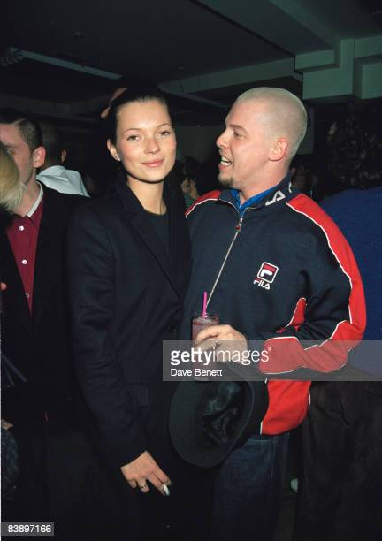 Model Kate Moss and designer Alexander McQueen at the Pharmacy club in Notting Hill London 4th February 1998