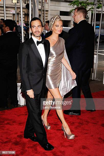Model Kate Moss and designer Marc Jacobs attend The Model as Muse Embodying Fashion Costume Institute Gala at The Metropolitan Museum of Art on May 4...