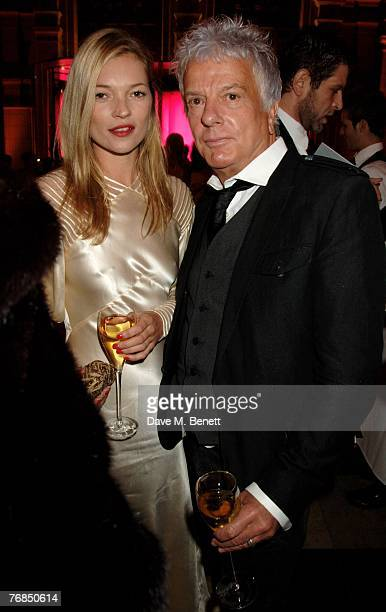 Model Kate Moss and Nicky Haslam attends The Golden Age Of Couture VIP Gala at the Victoria Albert Museum September 18 2007 in London England