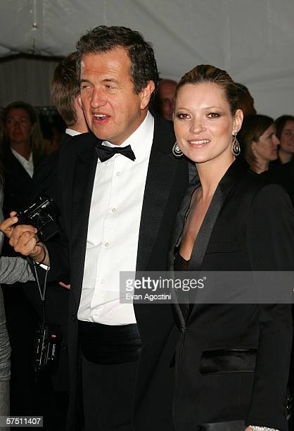Model Kate Moss and photographer Mario Testino attend the Metropolitan Museum of Art Costume Institute Benefit Gala Anglomania at the Metropolitan...