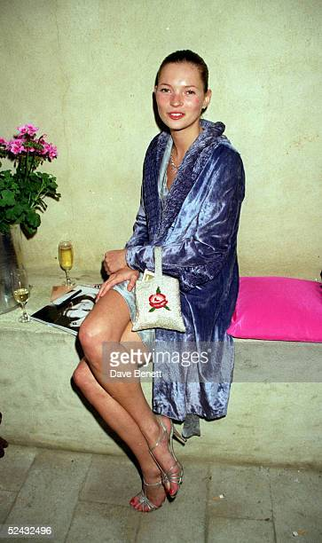 Model Kate Moss at a Vogue Magazine party held at the Lisson Gallery on May 20 1998 in London