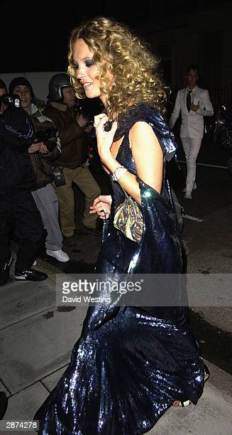 Model Kate Moss attends her 30th birthday party at the home of Agent Provocateur owner Serena Rees on January 16 2004 in London The Fran Cutler...