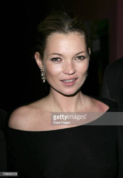 Model Kate Moss attends the afterparty following the Little Britain's Big Night charity gala performance in aid of Comic Relief at the Hammersmith...