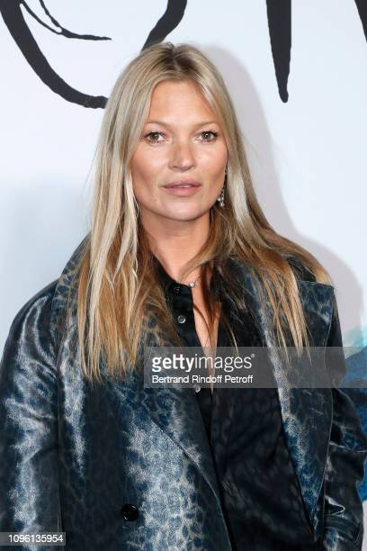 Model Kate Moss attends the Dior Homme Menswear Fall/Winter 2019-2020 show as part of Paris Fashion Week on January 18, 2019 in Paris, France.