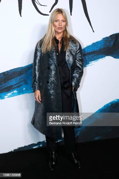 Model Kate Moss attends the Dior Homme Menswear Fall/Winter 20192020 show as part of Paris Fashion Week on January 18 2019 in Paris France
