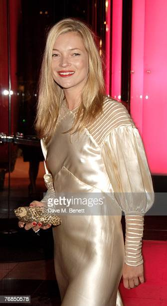 Model Kate Moss attends The Golden Age Of Couture VIP Gala at the Victoria Albert Museum September 18 2007 in London England