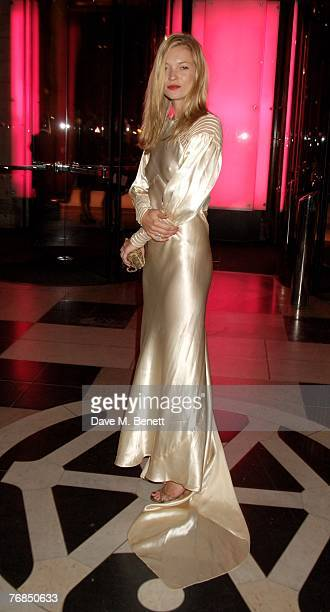 Model Kate Moss attends The Golden Age Of Couture VIP Gala at the Victoria & Albert Museum September 18, 2007 in London, England.