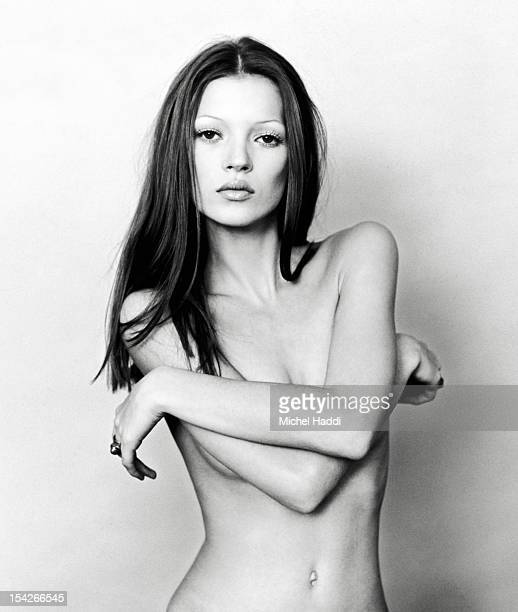 Model Kate Moss is photographed for GQ magazine on June 12, 1991 in London, England.