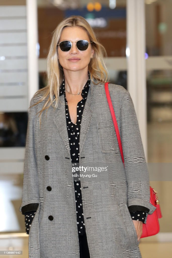 KOR: Kate Moss Arrives At Incheon Airport