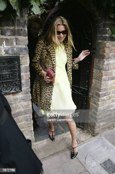 Model Kate Moss leaves her West London home on her 30th birthday today January 16 2004 in London It has been rumoured that she would be celebrating...