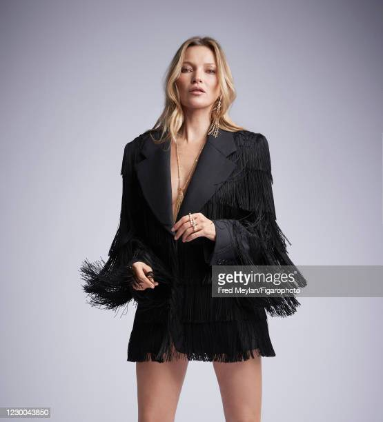 Model Kate Moss poses for a portrait on November 13, 2020 in Paris, France.