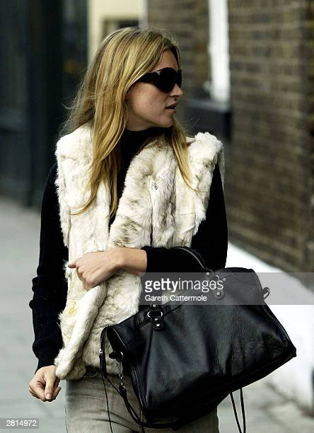 Model Kate Moss takes an afternoon stroll on December 16 2003 in West London