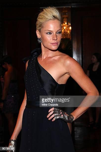 Model Kate Nauta attends Celestino by Sergio Guadarrama Spring 2010 at the Ukrainian Institute Of America on September 14, 2009 in New York City.