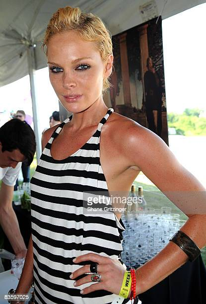 Model Kate Nauta attends Kids Day at the 2008 Mercedes-Benz Bridgehampton Polo Challenge at the Blue Star Jets Field at the Bridgehampton Polo Club...