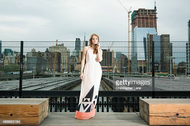 Model Kate Stoltz is photographed for Society Magazine France on May 21 in New York City