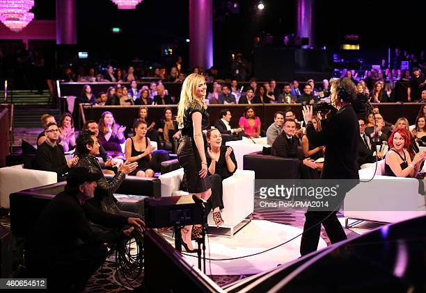 Model Kate Upton accepts the award for People's Sexiest Woman during the PEOPLE Magazine Awards at The Beverly Hilton Hotel on December 18 2014 in...