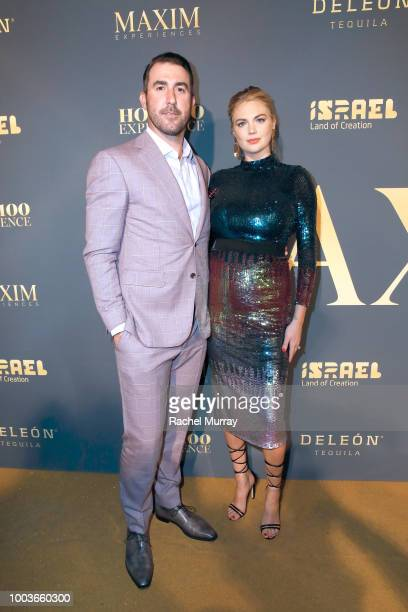Model Kate Upton and husband Justin Verlander attend The 2018 Maxim Hot 100 Party at Hollywood Palladium on July 21 2018 in Los Angeles California