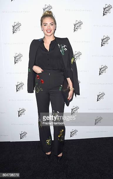 Model Kate Upton arrives at Stella McCartney Autumn 2016 Presentation at Amoeba Music on January 12 2016 in Los Angeles California