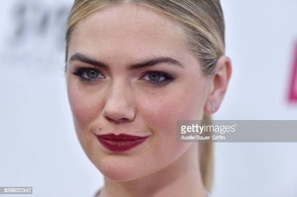 Model Kate Upton arrives at the Los Angeles Premiere of 'The Layover' at ArcLight Hollywood on August 23 2017 in Hollywood California