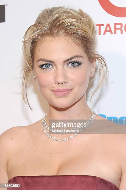 Model Kate Upton attends as Sports Illustrated celebrates SI Swimsuit 2013 with a starstudded red carpet kickoff event at Crimson on February 12 2013...