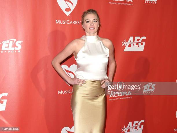 Model Kate Upton attends MusiCares Person of the Year honoring Tom Petty at the Los Angeles Convention Center on February 10, 2017 in Los Angeles,...