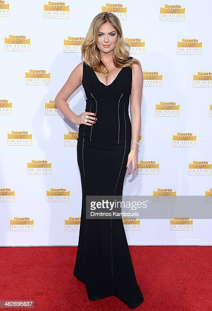 Model Kate Upton attends NBC and Time Inc celebrate the 50th anniversary of the Sports Illustrated Swimsuit Issue at Dolby Theatre on January 14 2014...