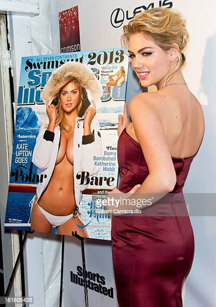 Model Kate Upton attends Sports Illustrated Swimsuit Launch Party at Crimson on February 12 2013 in New York City