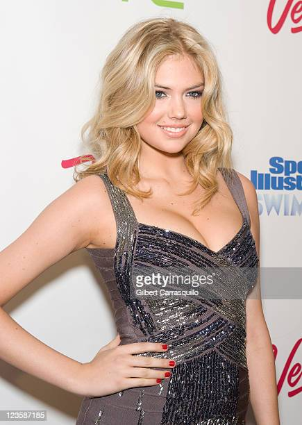 Model Kate Upton attends the 2011 Sports Illustrated Swimsuit issue launch party at Pranna Restaurant on February 15 2011 in New York City