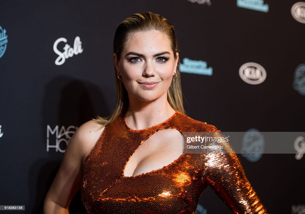Model Kate Upton attends the 2018 Sports Illustrated Swimsuit Issue Launch Celebration at Magic Hour at Moxy Times Square on February 14, 2018 in New York City.