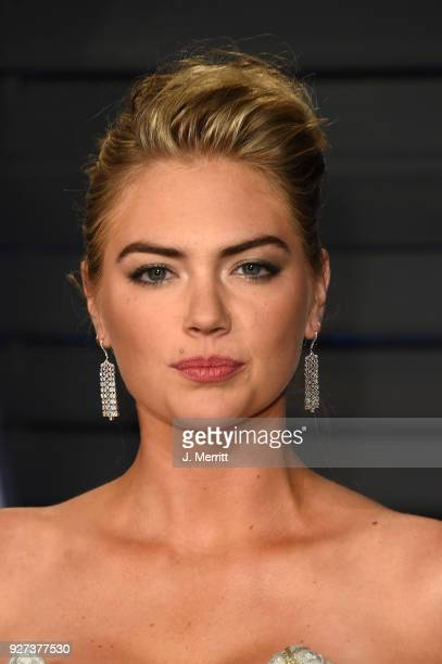 Model Kate Upton attends the 2018 Vanity Fair Oscar Party hosted by Radhika Jones at the Wallis Annenberg Center for the Performing Arts on March 4...
