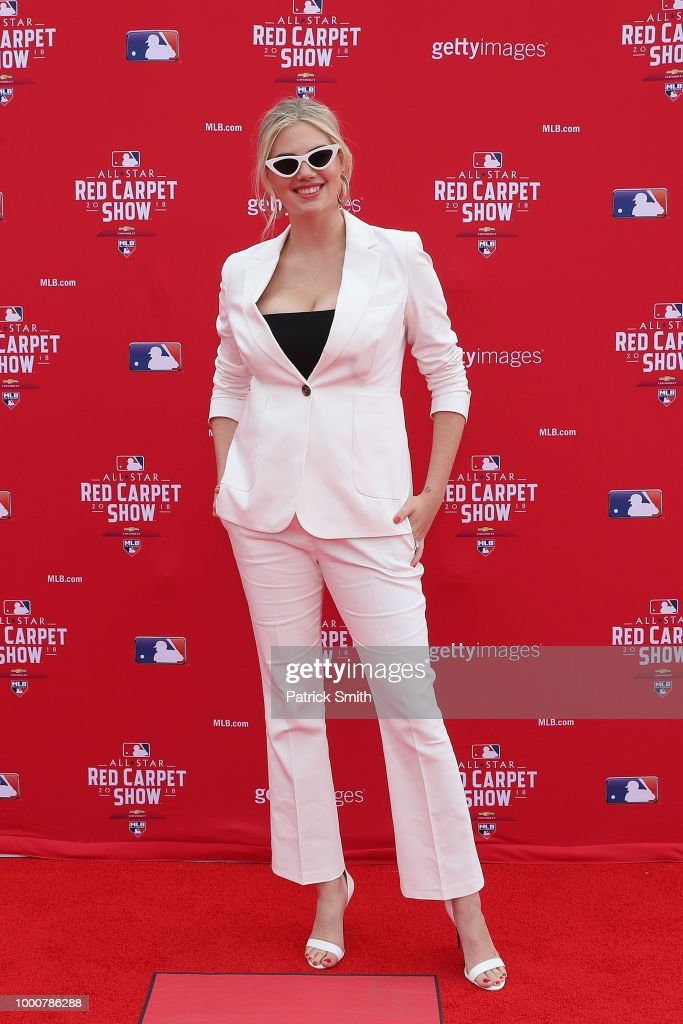 Model Kate Upton attends the 89th MLB All-Star Game, presented by MasterCard red carpet at Nationals Park on July 17, 2018 in Washington, DC.