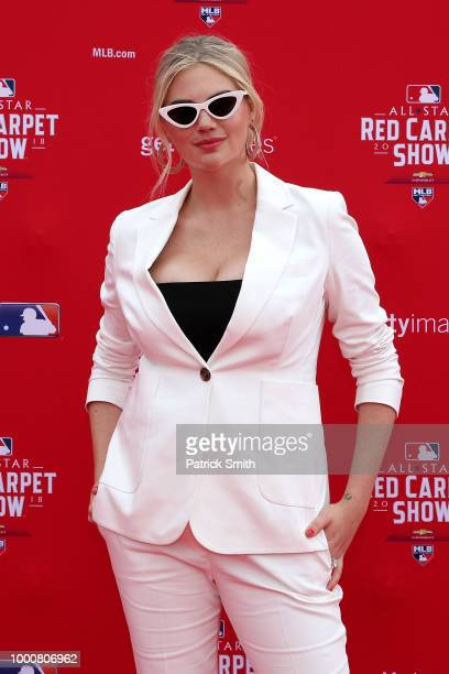 Model Kate Upton attends the 89th MLB AllStar Game presented by MasterCard red carpet at Nationals Park on July 17 2018 in Washington DC