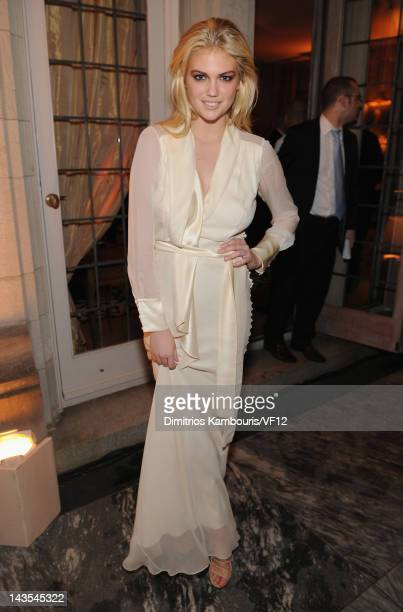 Model Kate Upton attends the Bloomberg Vanity Fair cocktail reception following the 2012 White House Correspondents' Association Dinner at the...