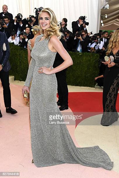 Model Kate Upton attends the 'Manus x Machina Fashion In An Age Of Technology' Costume Institute Gala at Metropolitan Museum of Art on May 2 2016 in...