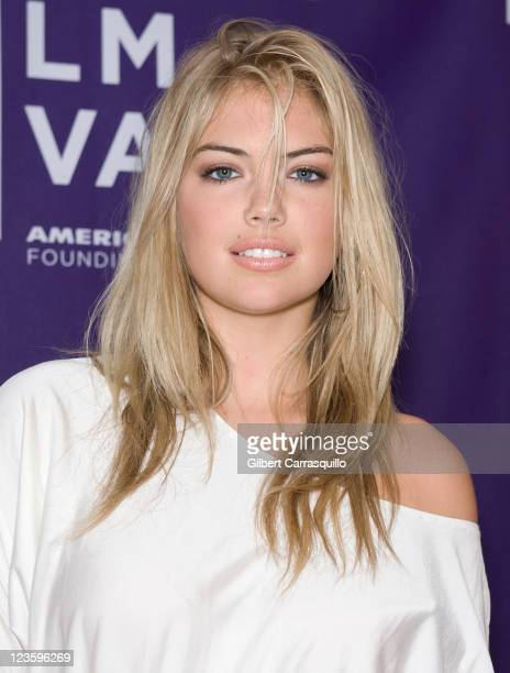 Model Kate Upton attends the premiere of 'The Bully Project' during the 10th annual Tribeca Film Festival at AMC Loews Village 7 on April 23 2011 in...