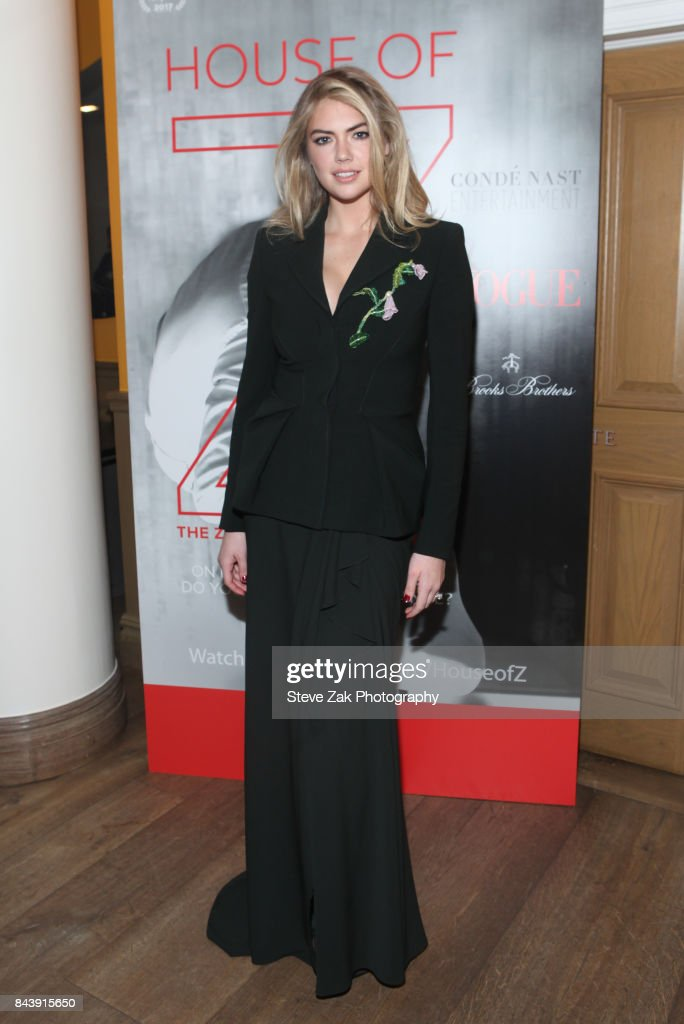 Model Kate Upton attends the premire of 'House Of Z' hosted by Brooks Brothers with The Cinema Society at Crosby Street Hotel on September 7, 2017 in New York City.