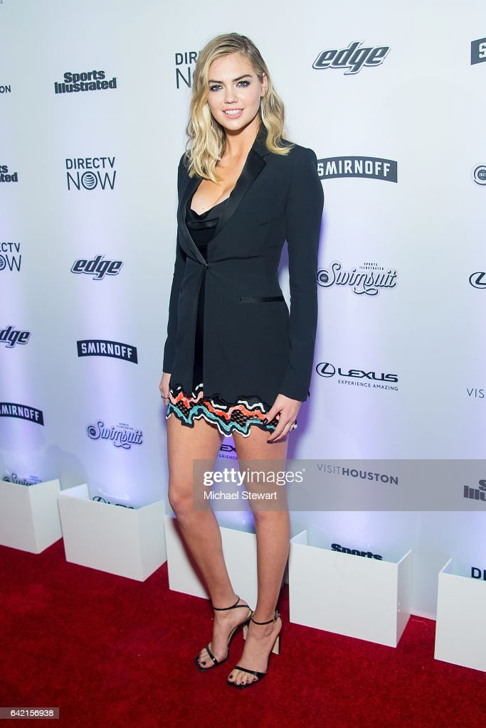 Model Kate Upton attends the Sports Illustrated Swimsuit 2017 launch event at Center415 Event Space on February 16, 2017 in New York City.